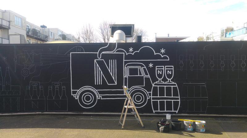 muurschildering Brouwerij Noordt