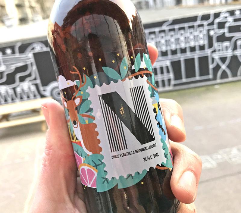 Ontwerp etiket New England IPA / Brouwerij Noordt
