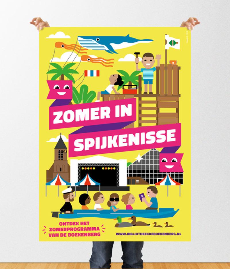 Affiche Zomer in Spijkenisse / bibliotheek De Boekenberg