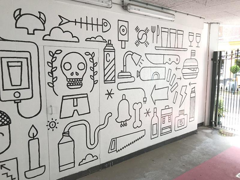 muurschildering Zwaanshals / Brouwerij Noordt