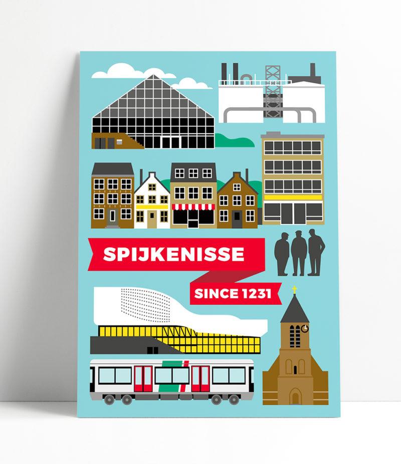 ansichtkaart Spijkenisse / Bibliotheek de Boekenberg