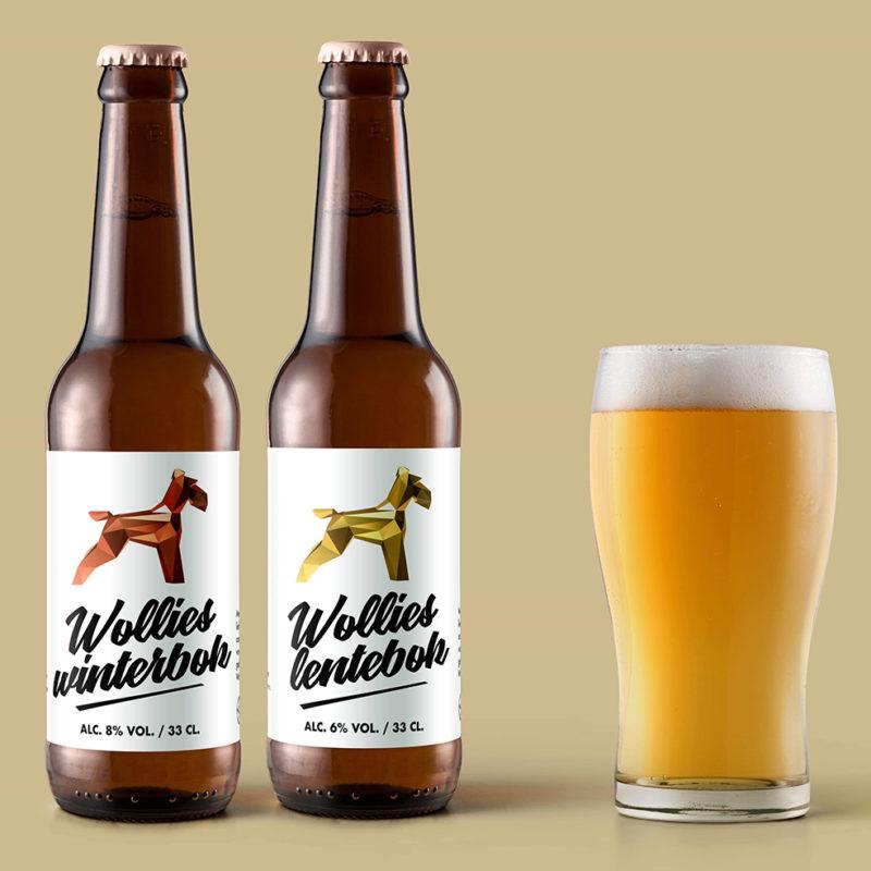 Ontwerp etiketten brouwerij Wollies