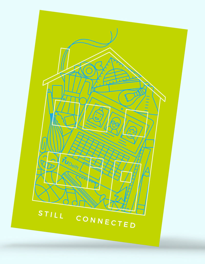 Ontwerp kaart thuiswerkers / TU Delft
