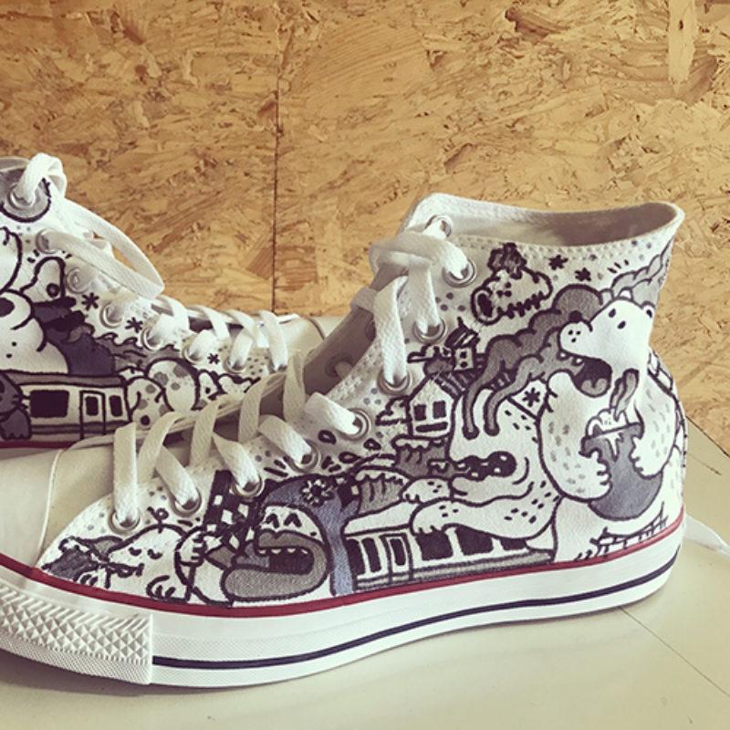 Custom made Converse All Stars